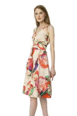Watercolor Garden Party Dress