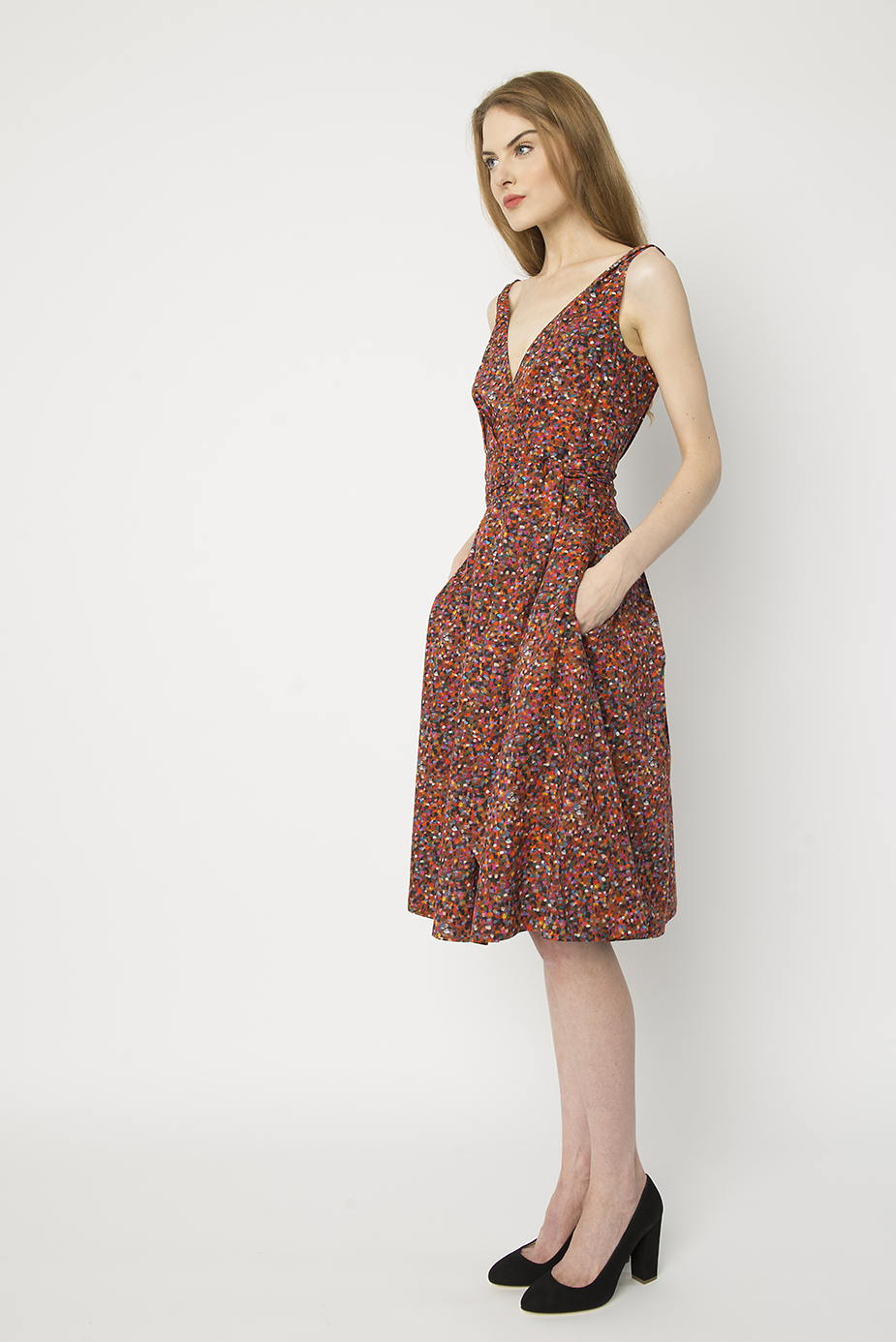 summer pointillism gpd 2 - Garden Party Dress