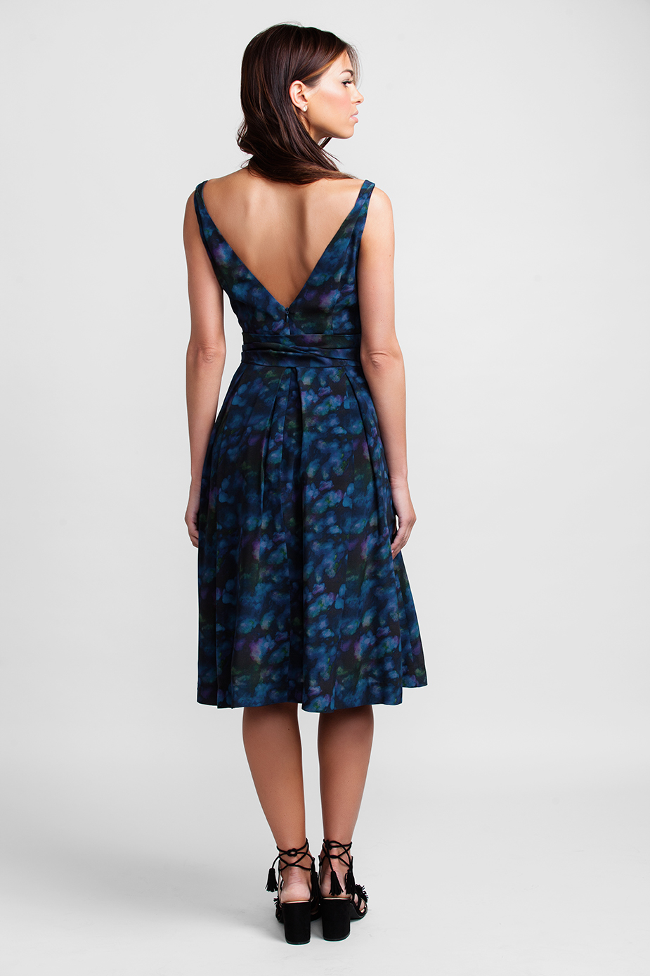 b1abed5ab86 Navy Cloud Garden Party Dress - Suzy Perette New York