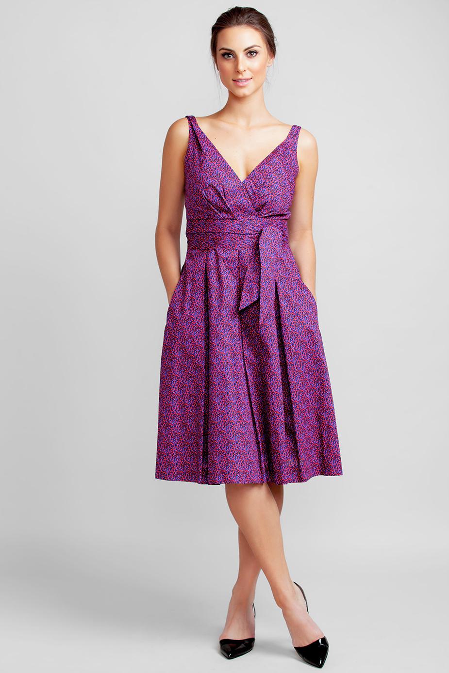 cc353232cf2 Pink Pointillism Garden Party Dress - Suzy Perette New York