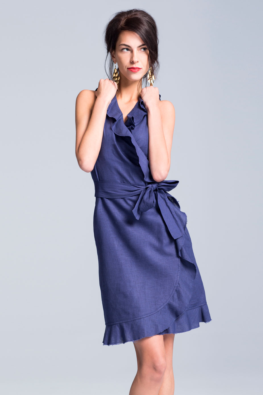 a2f74ae4362 Navy Wash Mini Florence Dress - Suzy Perette